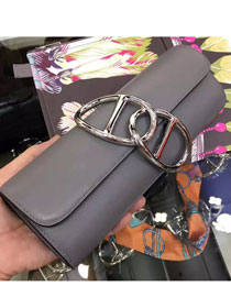 2017 hermes original leather full hand-made egee clutch E001 grey