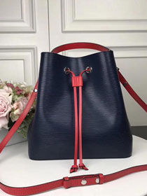 2017 louis vuitton original epi leather neonoe bag M54367 navy blue