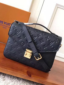 2017 louis vuitton original monogram empreinte pochette metis M41487 black
