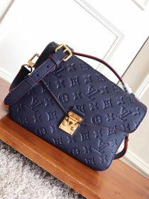 2017 louis vuitton original monogram empreinte pochette metis M44071 navy blue