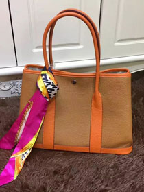 Hermes calfskin garden party 36 bag G036 orange&earth yellow