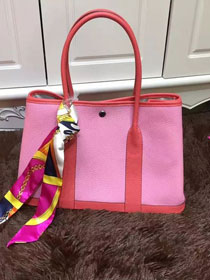 Hermes calfskin garden party 36 bag G036 red&pink