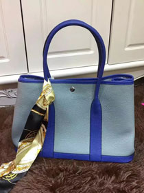 Hermes calfskin garden party 36 bag G036 royal blue&light blue