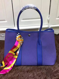 Hermes original canvas garden party 36 bag G36 blue