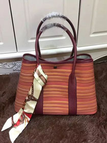 Hermes original canvas garden party 36 bag G36 raisin