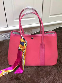 Hermes original canvas garden party 36 bag G36 rose red