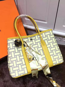 Hermes original canvas garden party 36 bag G36 yellow
