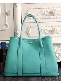 Hermes original calfskin garden party 36 bag G0360 cyan