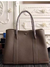 Hermes original calfskin garden party 36 bag G0360 brown