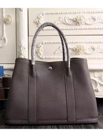 Hermes original calfskin garden party 36 bag G0360 dark gray