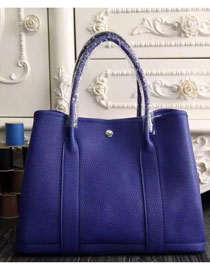 Hermes original calfskin garden party 36 bag G0360 electric blue