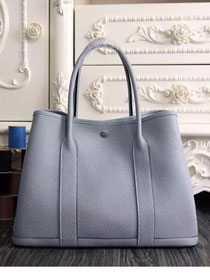 Hermes original calfskin garden party 36 bag G0360 light blue
