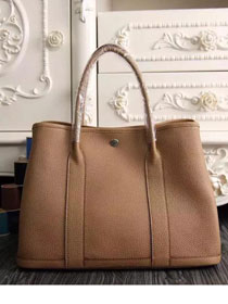 Hermes original calfskin garden party 36 bag G0360 light coffee