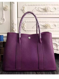 Hermes original calfskin garden party 36 bag G0360 purple