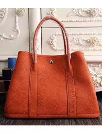 Hermes original calfskin garden party 36 bag G0360 red orange