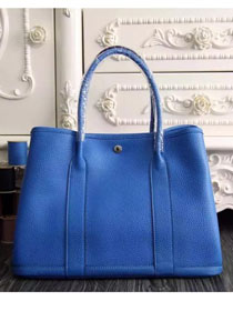 Hermes original calfskin garden party 36 bag G0360 royal blue