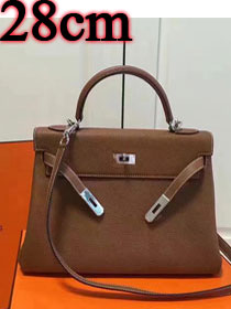 Hermes imported togo leather kelly 28 bag K0028 coffee