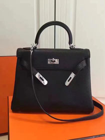 Hermes imported togo leather kelly 32 bag K0032 black