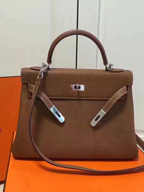 Hermes imported togo leather kelly 32 bag K0032 coffee