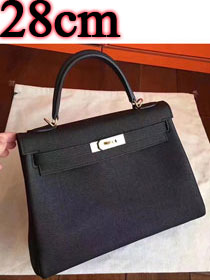 Hermes original togo leather kelly 28 bag K28 black