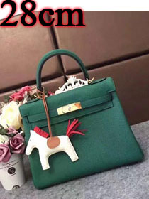 Hermes original togo leather kelly 28 bag K28 blackish green