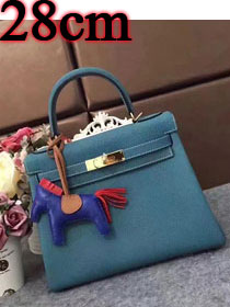 Hermes original togo leather kelly 28 bag K28 blue