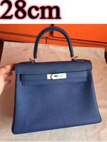 Hermes original togo leather kelly 28 bag K28 deep blue