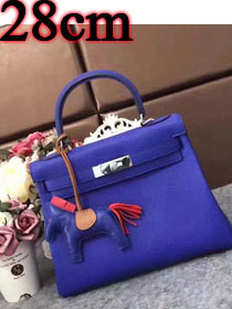 Hermes original togo leather kelly 28 bag K28 electric blue