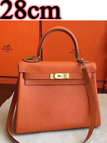 Hermes original togo leather kelly 28 bag K28 orange