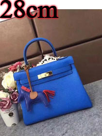 Hermes original togo leather kelly 28 bag K28 royal blue