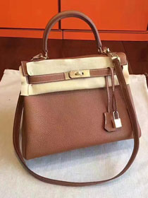 Hermes original togo leather kelly 32 bag K32