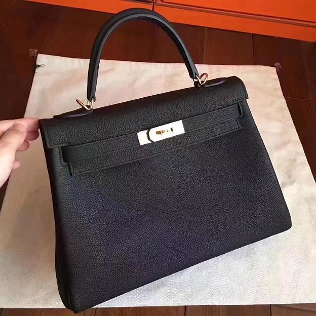 928130963a1ea Hermes original togo leather kelly 32 bag K32 black