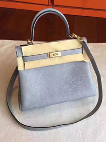 Hermes original togo leather kelly 32 bag K32 light blue