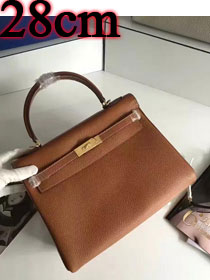 Hermes togo leather kelly 28 bag K028 coffee