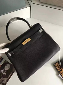 Hermes togo leather kelly 32 bag K032 black