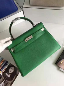 Hermes togo leather kelly 32 bag K032 green