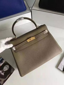 Hermes togo leather kelly 32 bag K032 khaki