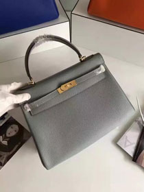 Hermes togo leather kelly 32 bag K032 light gray