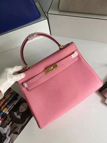 Hermes togo leather kelly 32 bag K032 pink