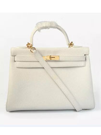 Hermes togo leather kelly 32 bag K032 white