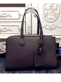 Hermes original clemence leather victoria fourre-tout 35 bag V35 gray