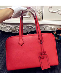 Hermes original clemence leather victoria fourre-tout 35 bag V35 red