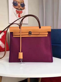 2017 hermes togo leather cabas her bag H31 coffee&purple