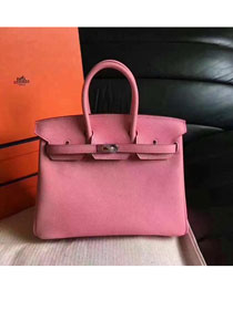 Hermes original epsom leather birkin 25 bag H25 pink