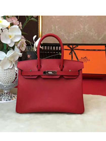 Hermes original epsom leather birkin 25 bag H25 red