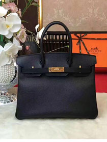 Hermes original epsom leather birkin 30 bag H30 black
