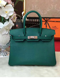 Hermes original epsom leather birkin 30 bag H30 blackish green