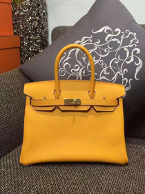 Hermes original epsom leather birkin 30 bag H30 yellow