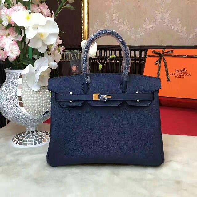 31fa01f590 Hermes original togo leather birkin 35 bag H35-1 dark blue