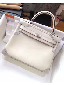 Hermes original togo leather kelly 32 bag K320 white